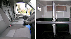 EquiTrek horse transport vehicle interior